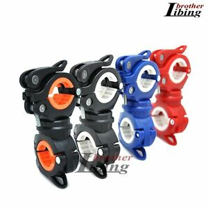 Cycling-Bike-Bicycle-Front-Flash-Light-Torch-360-Rotation-Clamp-Mount-Holder