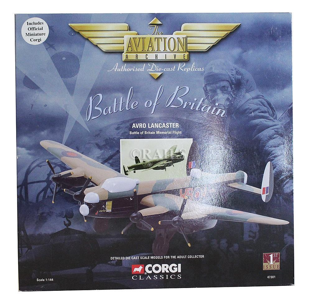 CORGI 1 144 SCALE 47301 AVRO LANCASTER BATTLE OF BRITAIN MEMORIAL FLIGHT (OS)