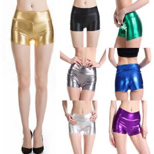 metallic rave shorts