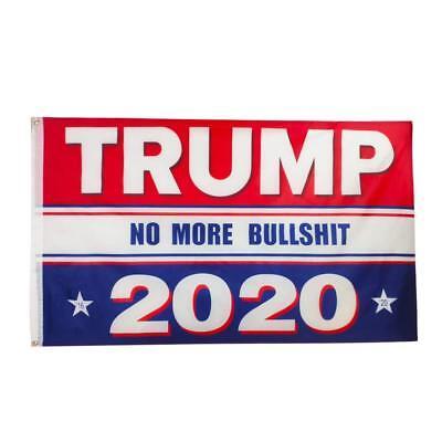 New Trump No More Bullshit 2020 Banner Flag President Presidential Election MAGA