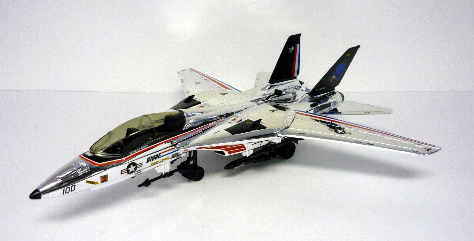 Gi Joe Skystriker Cromo a Medida Vintage Figura de Acción Vehículo Jet Completo