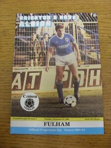 27121983 Brighton And Hove Albion v Fulham   Item appears to be in good condi - <span itemprop='availableAtOrFrom'>Birmingham, United Kingdom</span> - Returns accepted within 30 days after the item is delivered, if goods not as described. Buyer assumes responibilty for return proof of postage and costs. Most purchases from business s - <span itemprop='availableAtOrFrom'>Birmingham, United Kingdom</span>