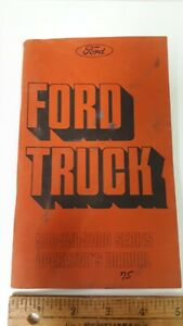 1975-FORD-500-750-7000-Series-Original-Owner-039-s-Manual-Good-Condition-US