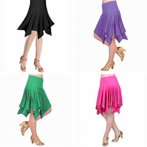 Women/'s Latin Salsa Tango Rumba Cha Cha Pleated Skirt Dancewear Dance Dress
