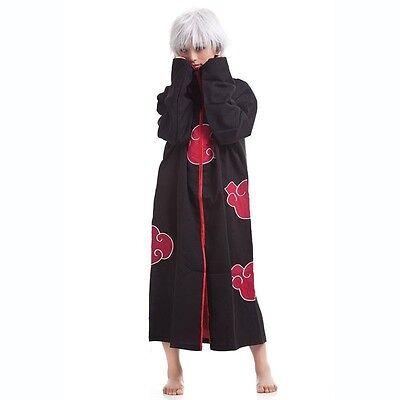 New Blood Red Naruto AKATSUKI ROBE cloak Uchiha Itachi cosplay costume Claok