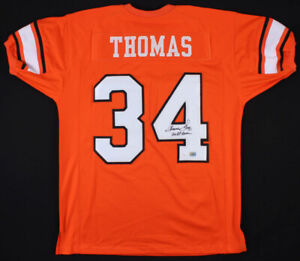 Thurman Thomas Signed Oklahoma State Cowboys Jersey ...