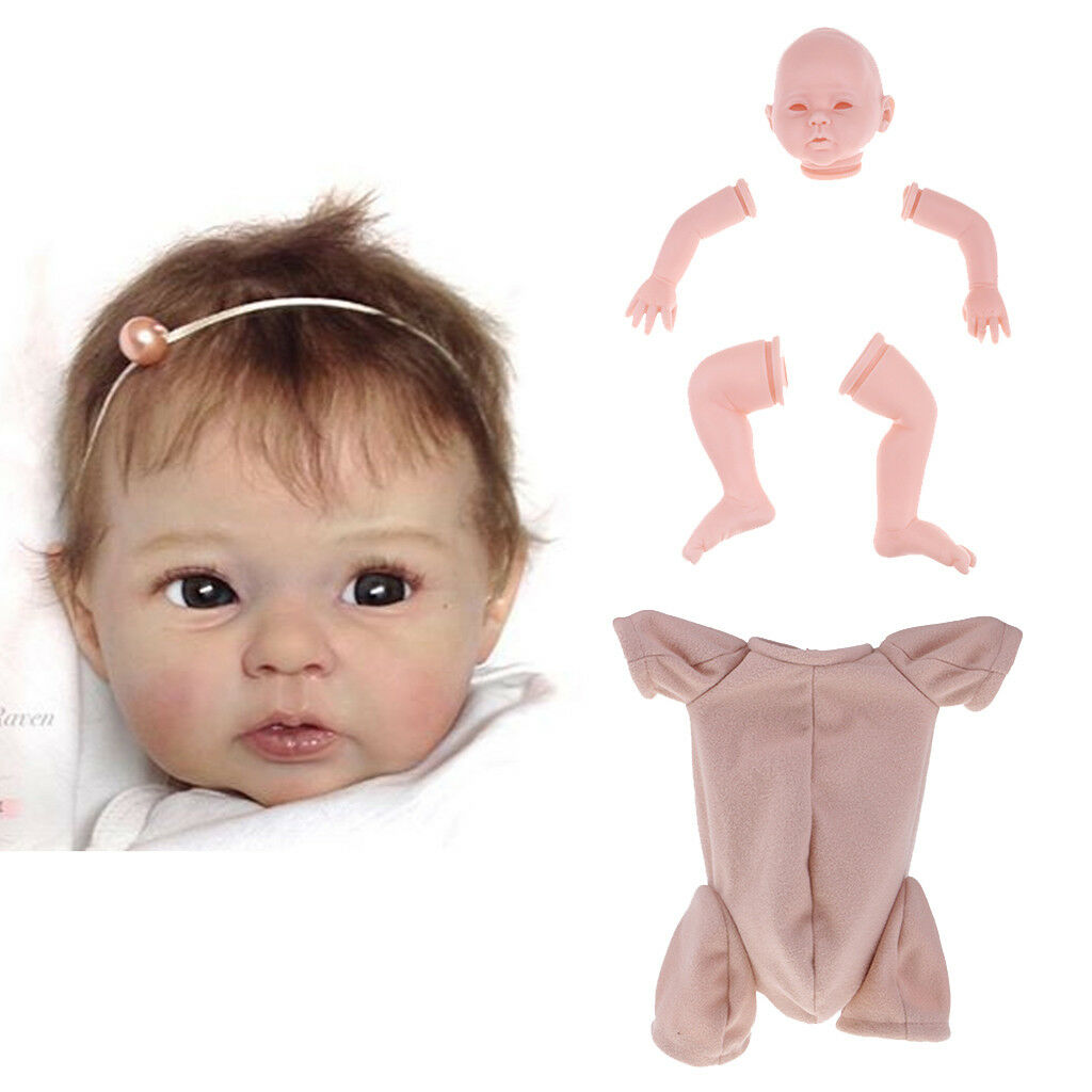 20inch Reborn Kit Silicone Arms Legs Limb Limb Limb Mould Blank Baby Doll & Cloth Body 7715e2