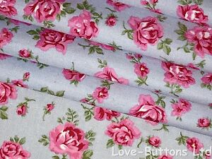 Rose /& Hubble yellow 100/% cotton rose print floral fabric half//full mtrs /& FQ