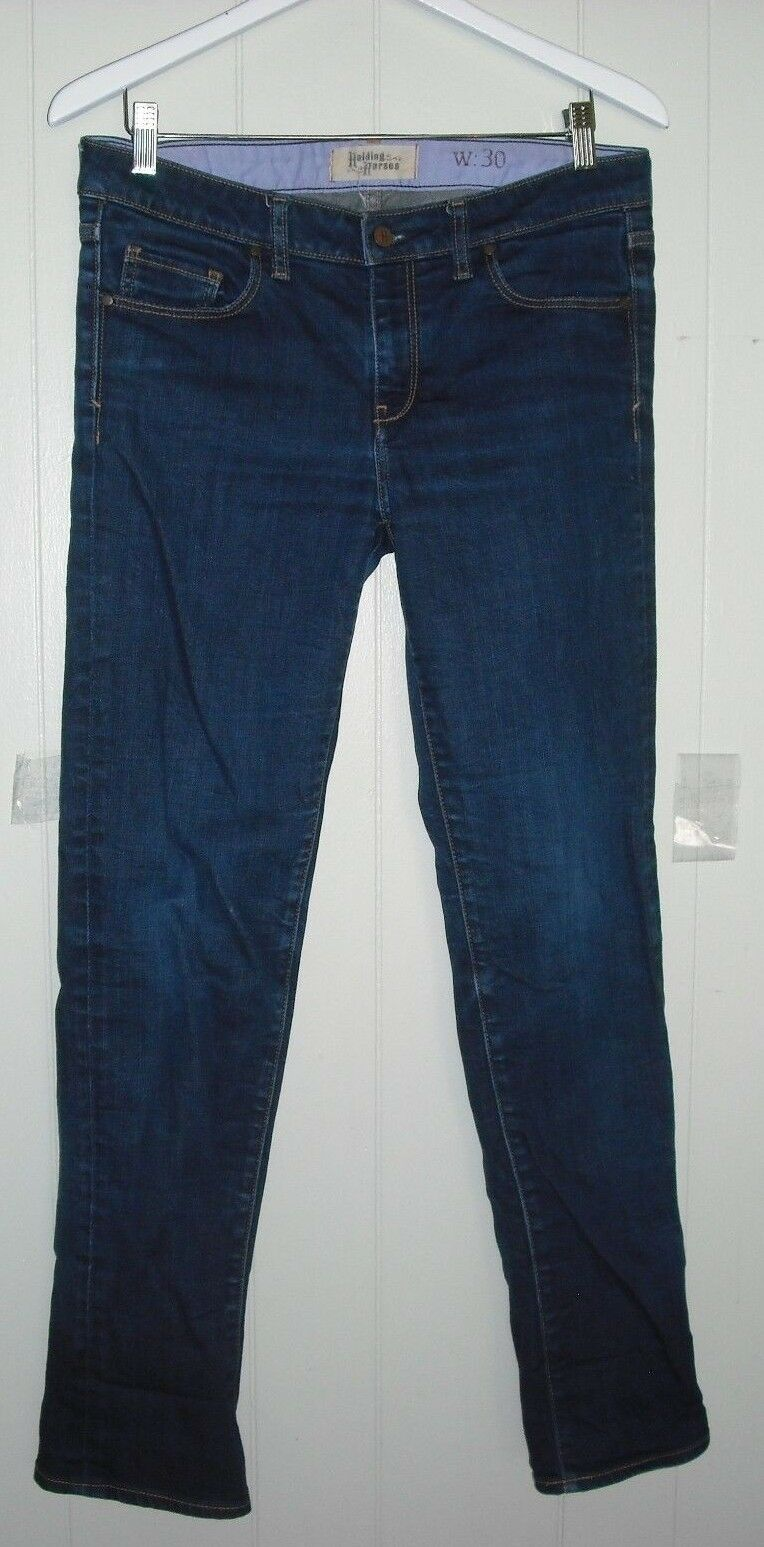 Holding Horses Size 30 Anthropologie Dark Wash Straight Leg Denim Jeans Country
