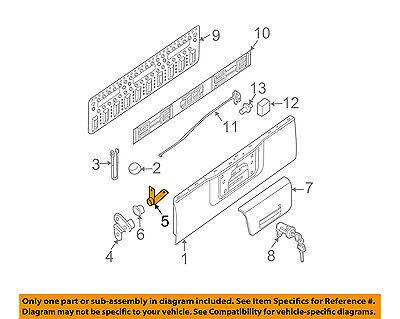 NISSAN OEM 05-08 Frontier Tail Gate-Hinge Half Left 93481EA805
