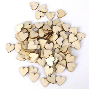 50x-Wooden-Wood-Love-Heart-Pieces-Painting-Craft-Cardmaking-Scrapbooking-AU