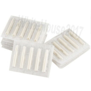 100pcs Sterile Disposable Tattoo Nozzle Tips Needle Tube Mixed Sizes RT DT FT