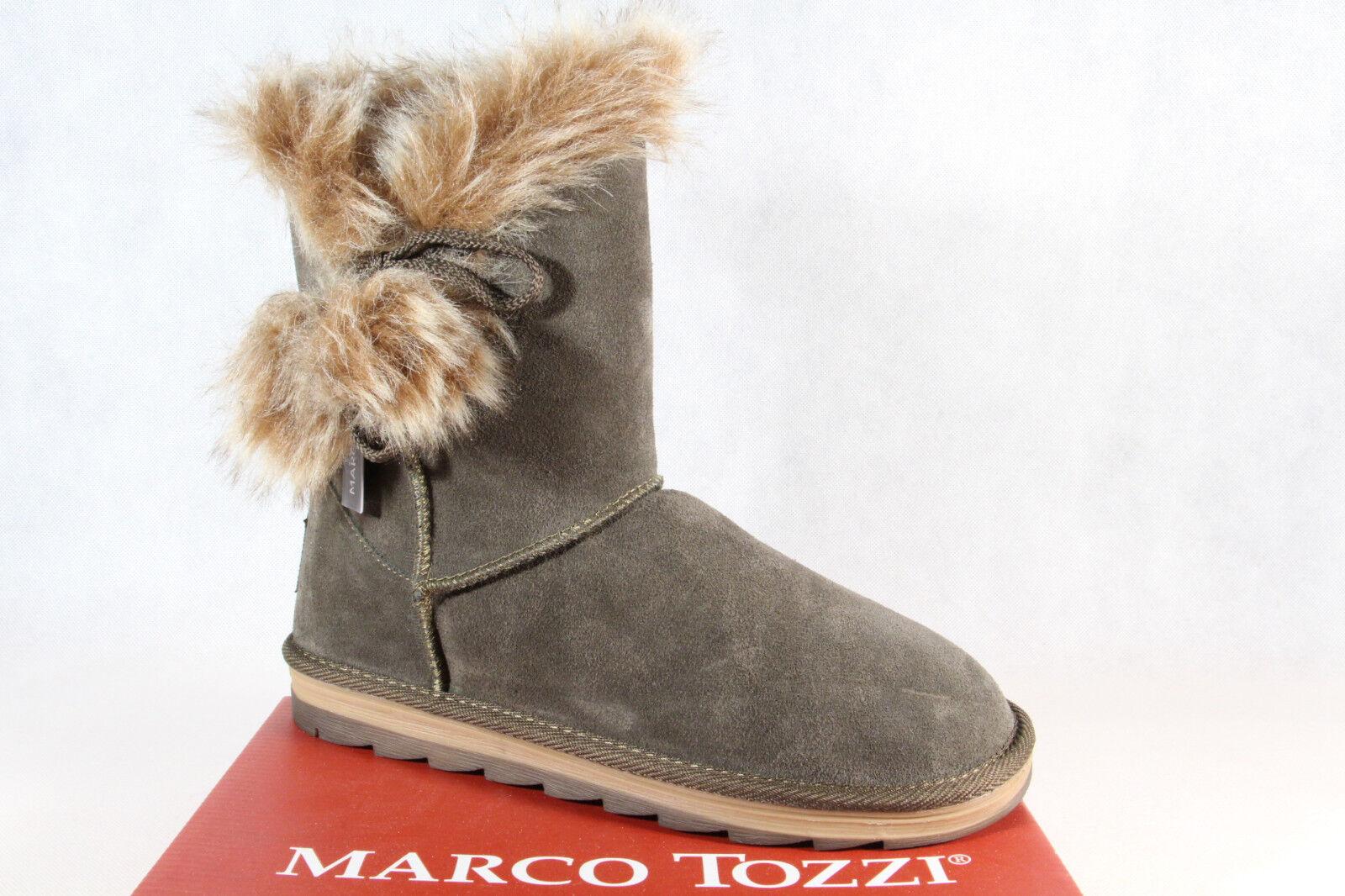 Marco Tozzi Botines Botines Botines botas Invierno Oliva 26824 Nuevo e3dd43