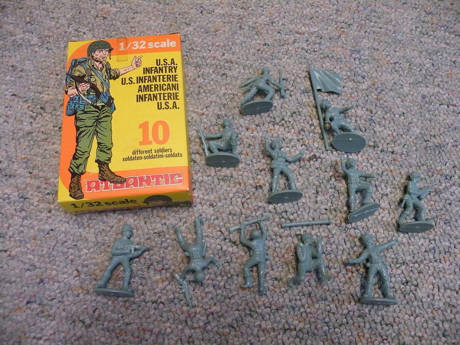 Atlantic 1 32 54mm  Box WW2 USA American Infantry RARE
