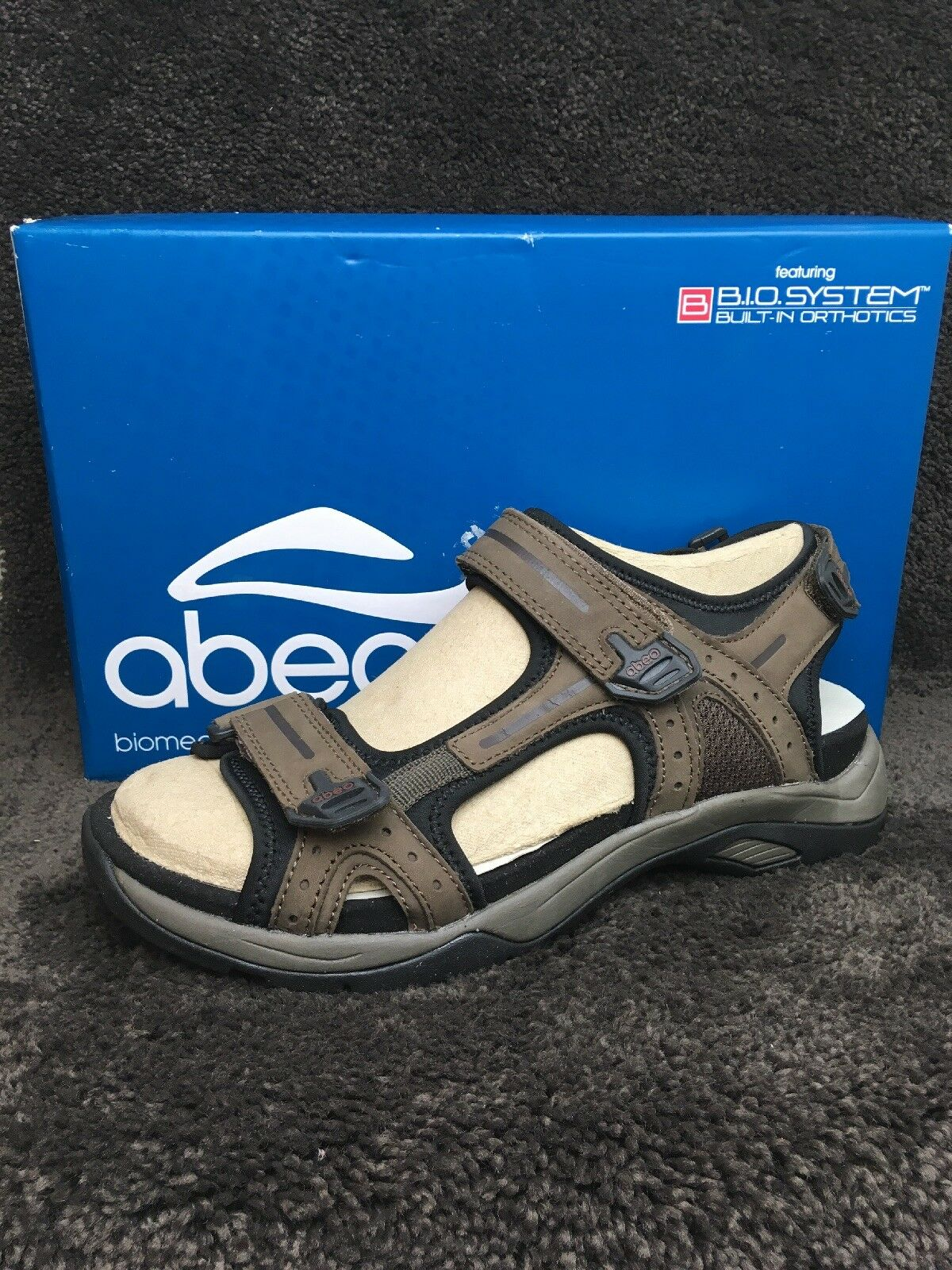 Abeo Cayucos BIO System Built In Orthotics Leather Leather Leather Sandals Dimensione 8 130  MSRP  e9e817