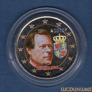 2 euro Commémo Couleur Color Luxembourg 2010 Armoiries du Grand Duc Henri Letzeb
