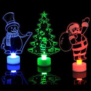 LED Christmas Gifts Santa Claus Snowman Ornament Festival Party Table Decor