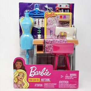Barbie Seamstress Fashion Designer Sewing Machine Playset You Can Be Anything Ebay