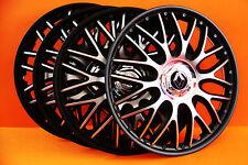 """13 """"RENAULT CLIO, TWINGO, MEGANE, ecc... COPRICERCHI / copre, Coprimozzi, Black & silv"""