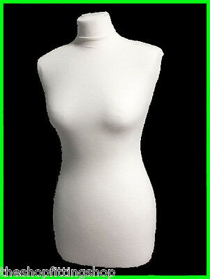REPLACEMENT WHITE COVER Female Tailors Dummy Dressmakers Mannequin Size 8,10,12