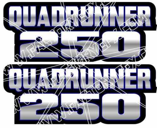QuadRunner 250 Blue Gas Tank Graphic Decal Sticker Atv Quad Runner atv 400 500