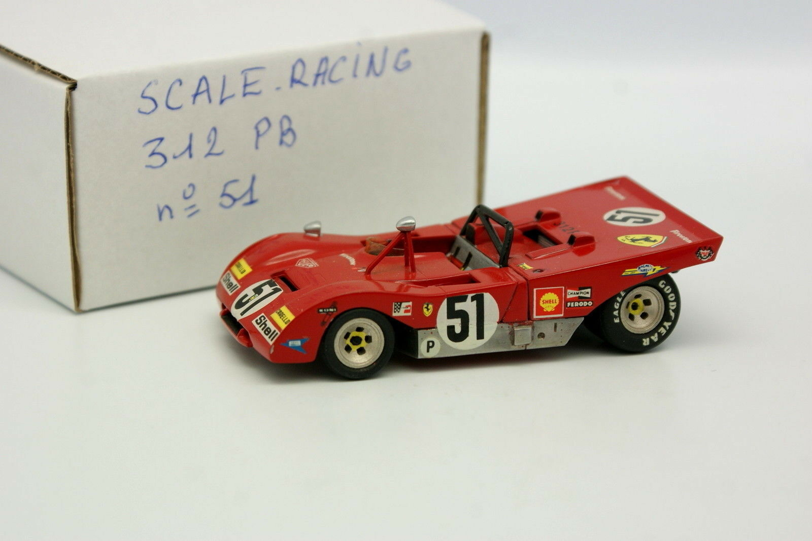 Scale Racing Kit Monté 1 43 - Ferrari 312 PB SEFAC N°51 Brands Hatch 1971