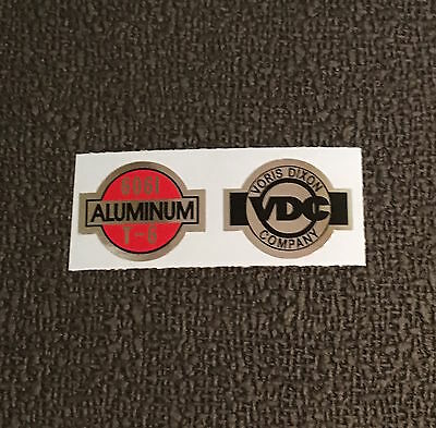 listing is for 1 pair of decals, VDC Bar Decals 1 Aluminum /& 1 VDC decal