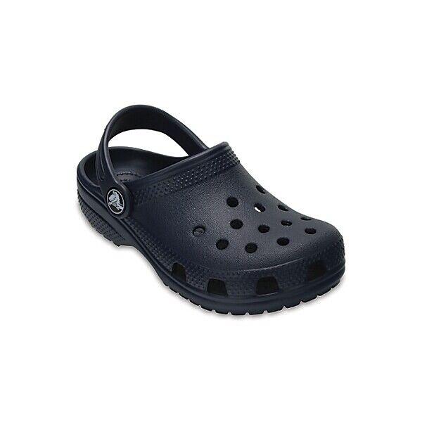 5553bd4349d5 Crocs Boys   Girls Classic Kids Croslite Casual Comfort Clog Shoes UK 8  Infant Navy 887350922790 for sale online