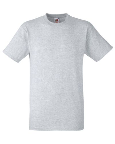 FRUIT OF THE LOOM uomo T Shirt Top S-XXL Cotone a Manica Corta Girocollo Tinta Unita