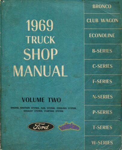 SHOP MANUAL FORD SERVICE REPAIR 1969 TRUCK ENGINE BOOK F100 F150 F250