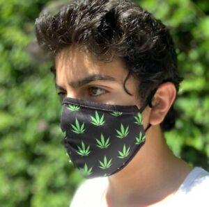 Washable Face Mask Cotton Reusable Designer Weed Print Breathable Unisex Soft Ebay