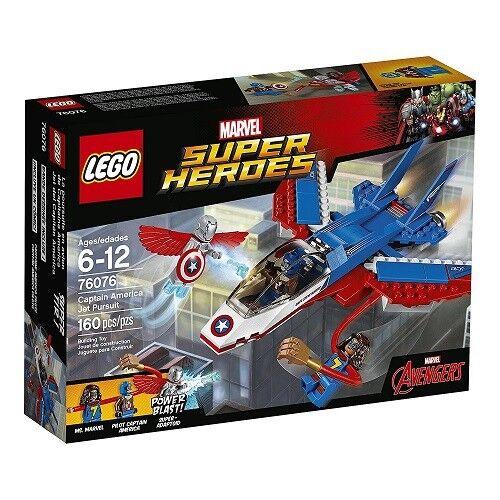 NEW Lego MARVEL SUPER HEROES (76076) Captain America Jet Pursuit - 160 pcs