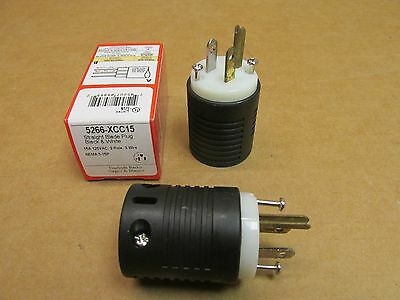 NEW PASS SEYMOUR 5266-SSANCC8 ANGLE PLUG 15 A 125V HEAVY DUTY EXTENSION CORD END