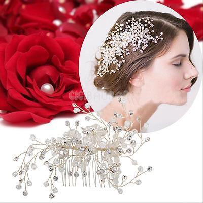 Elegant Bridal Wedding Crystal Rhinestone Hair Clip Comb Pin Headband Headpiece