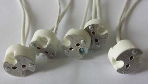 Universal-Fassung aus Keramik für G4 G5.3 100W, GY6 Niedervolt Sockel 12V max