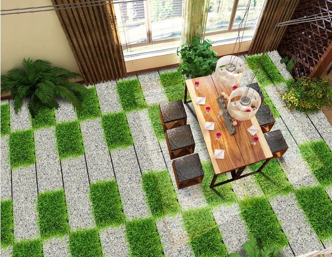 3D Grass Tiles Path 44 Floor WallPaper Murals Wall Print Decal AJ WALLPAPER
