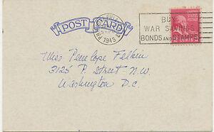 USA-1943-John-Adams-2-C-rose-on-superb-postcard-with-slogan-PHILADELPHIA-PA-034