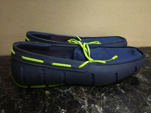 Swims Mens Braided Lace Loafer H2O Shoes 7 Navy/Gr