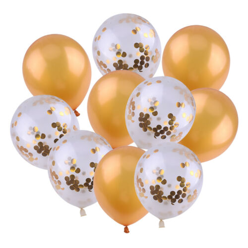 10pcs 12Inch Rose Gold Confetti Latex Balloon Baby Shower Wedding Birthday Party