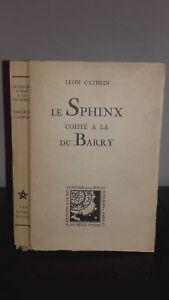 Leon Cathlin Il Sfinge Copricapo Alla Del Barry Bella Stella 1930 N° 92 Front