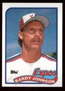 Details About Randy Johnson Mint Mariners Hof Rookie Card 647 Rc Sp 1989 89 Topps Baseball Gem