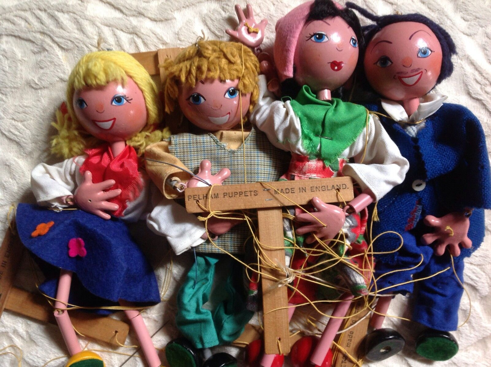 Vintage Pelham Puppets Marionette Mixed Lot Of In 4 1950's Made In Of England 9/10