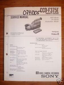 Diszipliniert Service-manual Für Sony Ccd-f375e Handycam Original Hindernis Entfernen Anleitungen & Schaltbilder