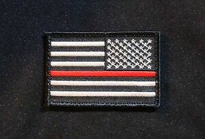 American Flag Thin Blue Line Patch - Tactical MOLLE Gear