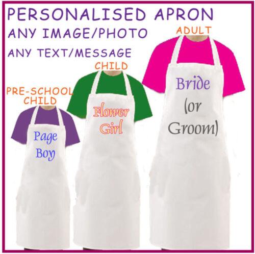 Any Image//Text  3 sizes Personalised  Wedding Apron