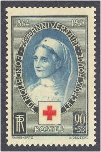 FRANCE-SCOTT-B81-1939-RED-CROSS-NURSE-SEMI-POSTAL-MINT-NEVER-HINGED-OG