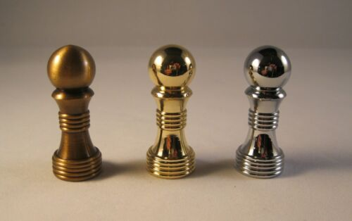 Highly detailed machined metal Lamp Finial-BALL ON BASE-Chrome Finish