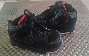 Details about Baby 2008 Nike Air Jordan 23 baby shoes BLACK Red 4.5C. excellent condition.
