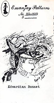 1:12 scale Emanjay Dollhouse Doll Hat pattern #H908 1920/'s Cloche //uncut