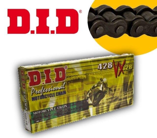 DID Drive Shaft Chain 428 VX X-Ring 118 Links Clip Black 428vxx118fb